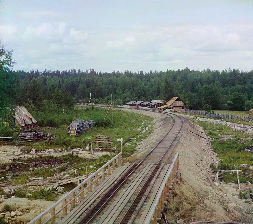 """Мурманская железная дорога. следующая.   """"Вид ж. д. пути. предыдущая."""